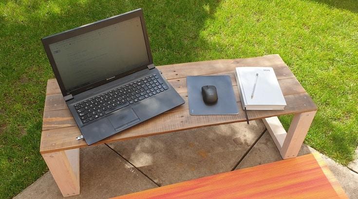 DIY laptop desk/stand